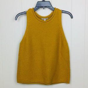 Madewell Mustard Sweater Vest Medium